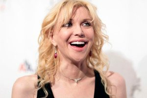 File photo of Courtney Love at a benefit dinner for the Elton John Aids Foundation in New York